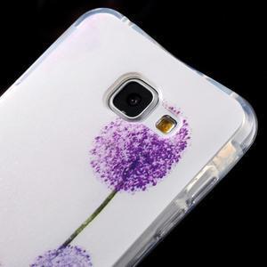 Tvarovaný gelový obal na Samsung Galaxy A5 (2016) - fialové pampelišky - 4