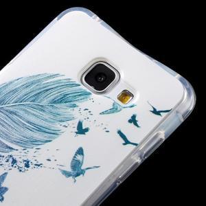 Tvarovaný gelový obal na Samsung Galaxy A5 (2016) - ptačí peříčko - 4