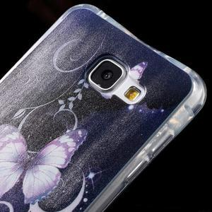 Tvarovaný gelový obal na Samsung Galaxy A5 (2016) - motýlci - 4