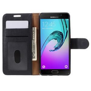 Cloth peněženkové pouzdro na Samsung Galaxy A5 (2016) - černé - 4