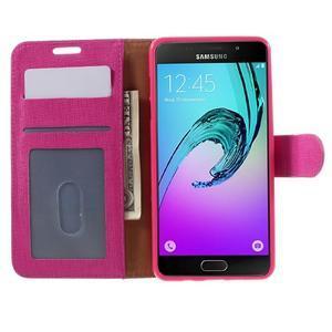 Cloth peněženkové pouzdro na Samsung Galaxy A5 (2016) - rose - 4