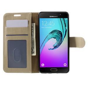 Cloth peněženkové pouzdro na Samsung Galaxy A5 (2016) - champagne - 4