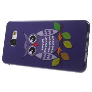 Obal s motivem na mobil Samsung Galaxy A5 (2016) - fialová sovička - 4