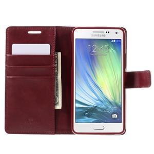 Luxusní PU kožené pouzdro na mobil Samsung Galaxy A5 (2016) - vínové - 4