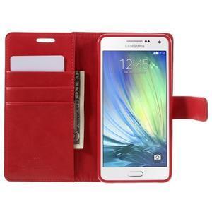 Luxusní PU kožené pouzdro na mobil Samsung Galaxy A5 (2016) - červené - 4