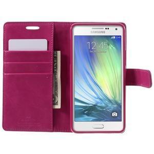 Luxusní PU kožené pouzdro na mobil Samsung Galaxy A5 (2016) - rose - 4