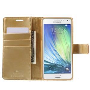 Luxusní PU kožené pouzdro na mobil Samsung Galaxy A5 (2016) - zlaté - 4