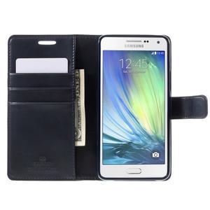 Luxusní PU kožené pouzdro na mobil Samsung Galaxy A5 (2016) - tmavěmodré - 4