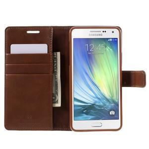 Luxusní PU kožené pouzdro na mobil Samsung Galaxy A5 (2016) - hnědé - 4