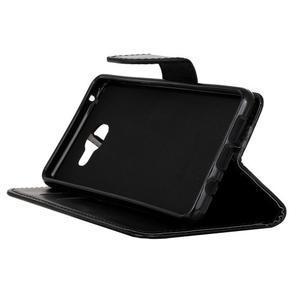 PU kožené pouzdro na mobil Samsung Galaxy A5 (2016) - černé - 4