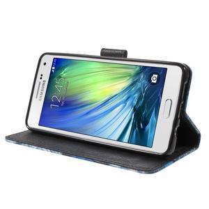 Koženkové pouzdro na Samsung Galaxy A5 (2016) - modrý motýl - 4
