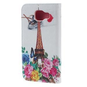Softy peněženkové pouzdro na Samsung Galaxy A5 (2016) - Eiffelka a květiny - 4