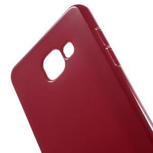 Jelly lesklý pružný obal na Samsung Galaxy A5 (2016) - červený - 4