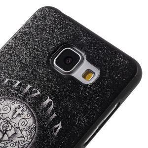 Gelový obal s koženkovým vzorem na Samsung Galaxy A5 (2016) - lebka - 4