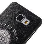 Gelový obal s koženkovým vzorem na Samsung Galaxy A5 (2016) - lebka - 4/6