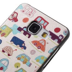 Gelový obal s koženkovým vzorem na Samsung Galaxy A5 (2016) - autíčka - 4