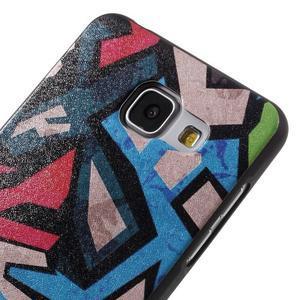 Gelový obal s koženkovým vzorem na Samsung Galaxy A5 (2016) - grafity - 4