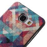 Gelový obal s koženkovým vzorem na Samsung Galaxy A5 (2016) - hexagon - 4/6