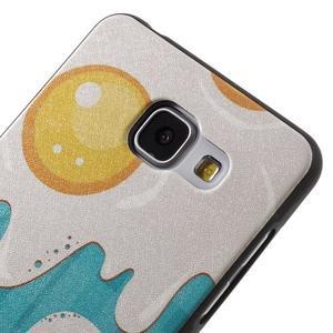 Gelový obal s koženkovým vzorem na Samsung Galaxy A5 (2016) - volská oka - 4