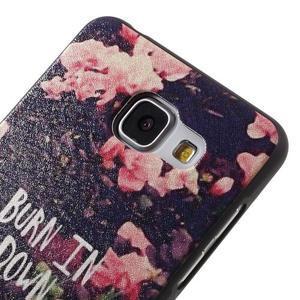 Gelový obal s koženkovým vzorem na Samsung Galaxy A5 (2016) - růže - 4