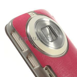Růžové peněženkové pouzdro na Samsung Galaxy K Zoom C115 - 4