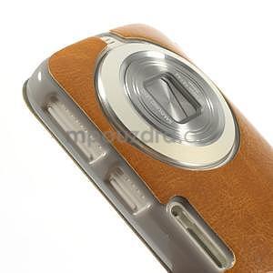 Oranžové peněženkové pouzdro na Samsung Galaxy K Zoom C115 - 4