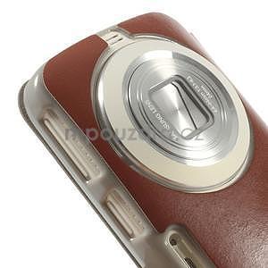 Hnědé peněženkové pouzdro na Samsung Galaxy K Zoom C115 - 4
