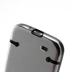 Obal na mobil se svítícími hranami na Samsung Galaxy S4 - černé - 4