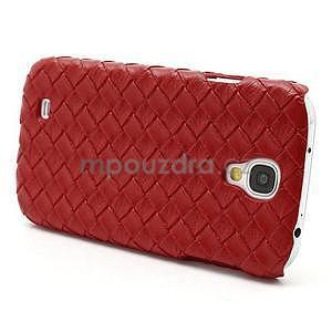 PU kožené puzdro pre Samsung Galaxy S4 - červené - 4