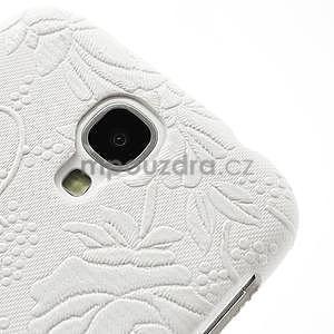 Květinové pouzdro na Samsung Galaxy S4 - bílé - 4
