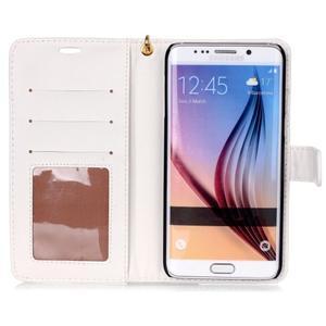 Croco styl peněženkové pouzdro na Samsung Galaxy S7 - bílé - 4