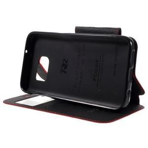 Diary pouzdro s okýnkem na Samsung Galaxy S7 - červené - 4
