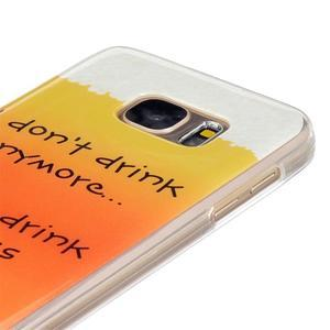 Gelový kryt na mobil Samsung Galaxy S7 - drink - 4