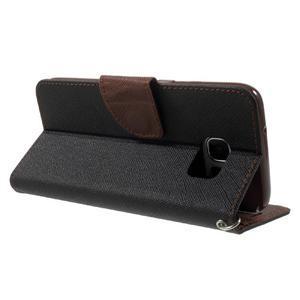 Mercury Orig PU kožené pouzdro na Samsung Galaxy S7 Edge - černé/hněé - 4