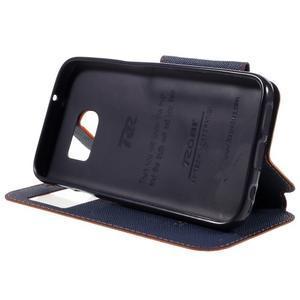 Diary pouzdro s okýnkem na Samsung Galaxy S7 - oranžové - 4