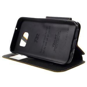 Diary pouzdro s okýnkem na Samsung Galaxy S7 - žluté - 4