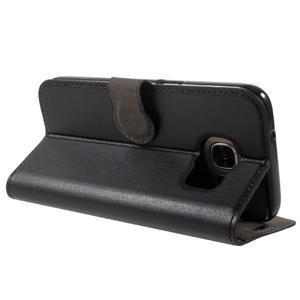 Leat PU kožený obal na Samsung Galaxy S7 - černý - 4