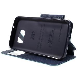 Diary pouzdro s okýnkem na Samsung Galaxy S7 - světlemodré - 4