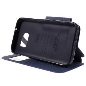 Diary pouzdro s okýnkem na Samsung Galaxy S7 - fialové - 4