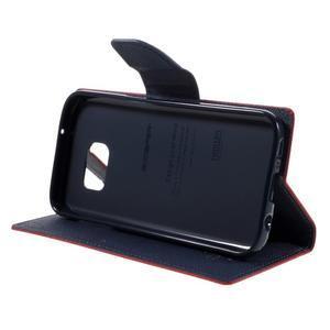 Goosper PU kožené pouzdro na Samsung Galaxy S7 - červené - 4