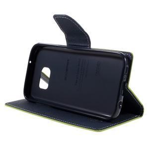 Goosper PU kožené pouzdro na Samsung Galaxy S7 - zelené - 4