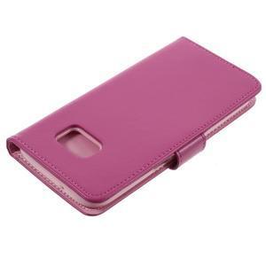 Luxury PU kožené pouzdro na Samsung Galaxy S7 - rose - 4