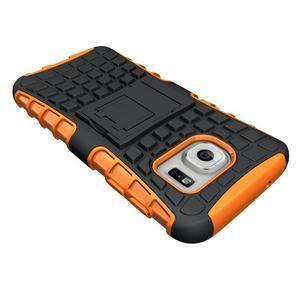 Outdoor odolný obal na mobil Samsung Galaxy S7 - oranžový - 4