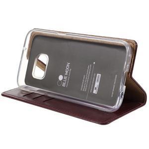 Bluemoon PU kožené pouzdro na mobil Samsung Galaxy S7 - tmavěčervené - 4