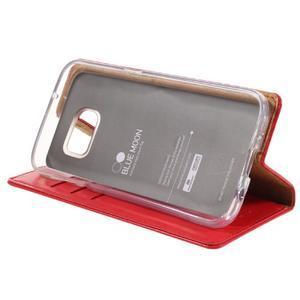 Bluemoon PU kožené pouzdro na mobil Samsung Galaxy S7 - červené - 4