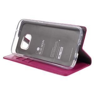 Bluemoon PU kožené pouzdro na mobil Samsung Galaxy S7 - rose - 4