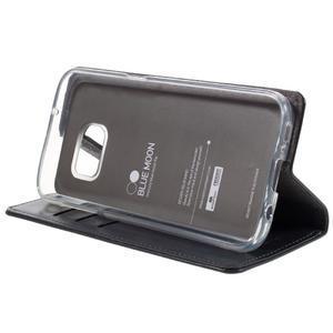 Bluemoon PU kožené pouzdro na mobil Samsung Galaxy S7 - tmavěmodré - 4