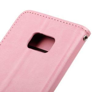 Stand peněženkové pouzdro na Samsung Galaxy S7 - růžové - 4