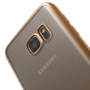 Gelový obal se zlatým rámečkem na Samsung Galaxy S7 - 4