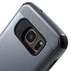 Dvoudílný odolný kryt na Samsung Galaxy S7 - šedý - 4
